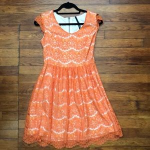 Kensie brand Orange Dress size small